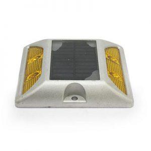 aluminium road studs yellow-yellow